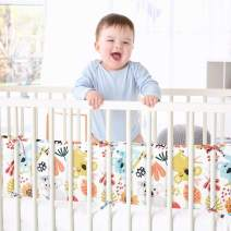 EXQ Home 4-Piece Baby Safe Crib Bumper Pads for Standard Cribs,Breathable Soft Microfiber Polyester Crib Liner Thick Pad,Machine Washable Cute Mesh Bumpers Padded Protector for Nursery Bed(Koala)