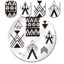 BORN PRETTY Nail Stamping Plate Nail Art Image Plate Negative Space Stamp Plate BP77