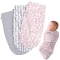 Henry Hunter Baby Swaddle Cocoon Sack   The Simple Swaddle   Soft Stretchy Comfortable Cotton Receiving Blanket for Infants & Newborns 0-3 Months (Flower   Owl   Light Heather)