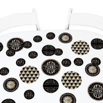 Big Dot of Happiness Roaring 20's - 1920s Art Deco Party Giant Circle Confetti - Jazz 2020 Graduation and Prom Party Decorations - Large Confetti 27 Count