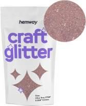 "Hemway Craft Glitter 100g 3.5oz Ultra Fine/Extra Fine 1/128"" .008"" 0.2MM (Rose Gold)"