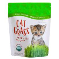Handy Pantry Organic Cat Grass Seed Blend for Planting | A Healthy Mix of Organic Wheat, Barley, Oats, and Rye