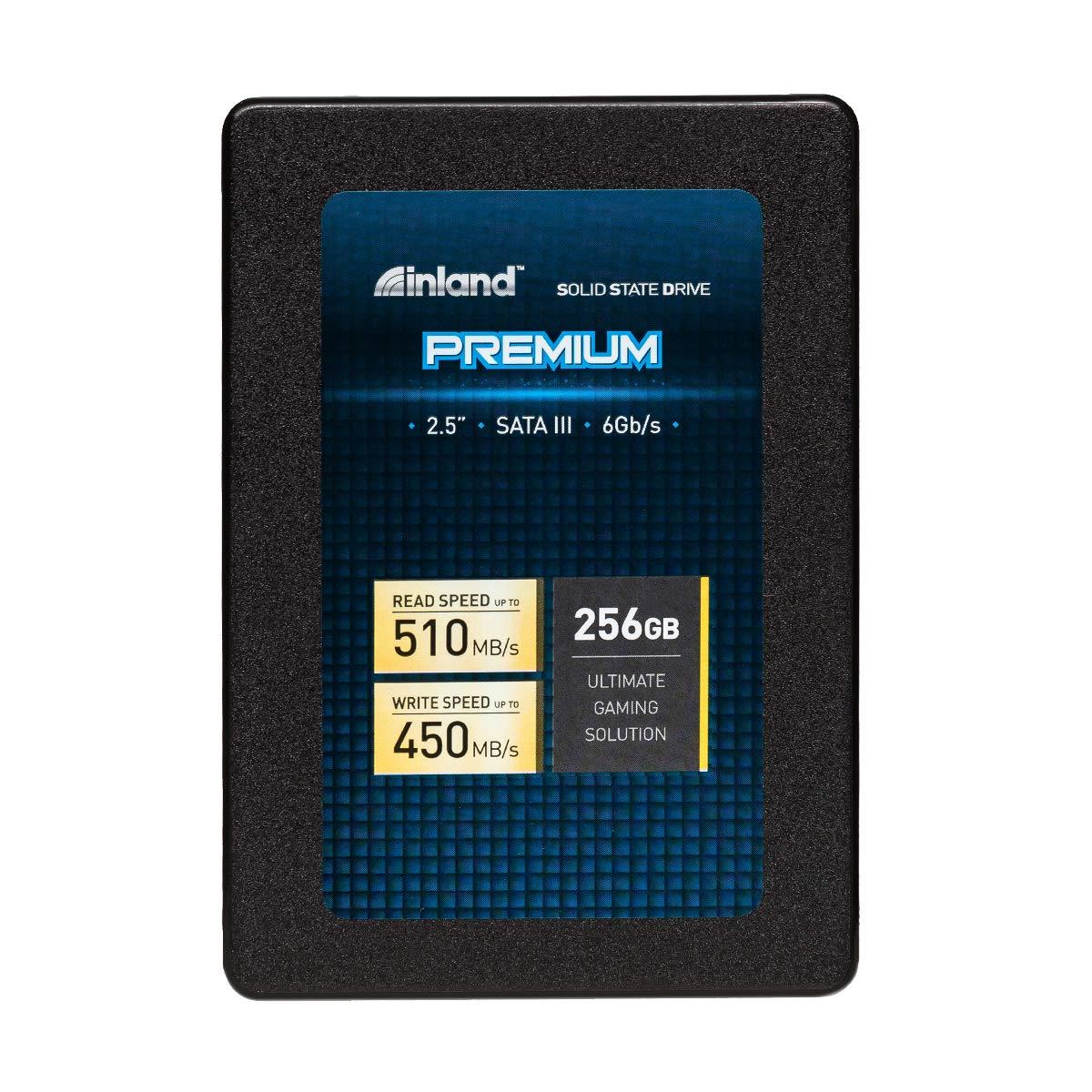 """Inland Premium 256GB SSD 3D QLC NAND SATA 3.0 6GB/s 2.5"""" 7mm Internal Solid State Drive (256GB)"""