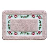 Beautiful Rose Flower Bathroom Rugs Non Slip Absorbent Bath Mat Door Mat Welcome Mat Super Soft Kitchen Rug