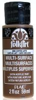 FolkArt Multi-Surface Paint in Assorted Colors (2 oz), 2906, Coffee Latte