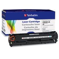 Verbatim Remanufactured Toner Cartridge Replacement for HP CE261A (Cyan)