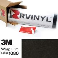 3M 1080 SP242 Satin Gold DUST Black 5ft x 1ft W/Application Card Vinyl Vehicle Car Wrap Film Sheet Roll
