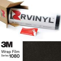 3M 1080 SP242 Satin Gold DUST Black 5ft x 1ft W/Application Card Vinyl Vehicle Car Wrap Film Sheet Roll