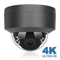 Anpviz 4K 8MP POE IP Security Dome Camera with Microphone, Audio Indoor Outdoor, Wide Angle 2.8mm Lens, 98ft, IP66 Weatherproof Onvif Compliant Grey