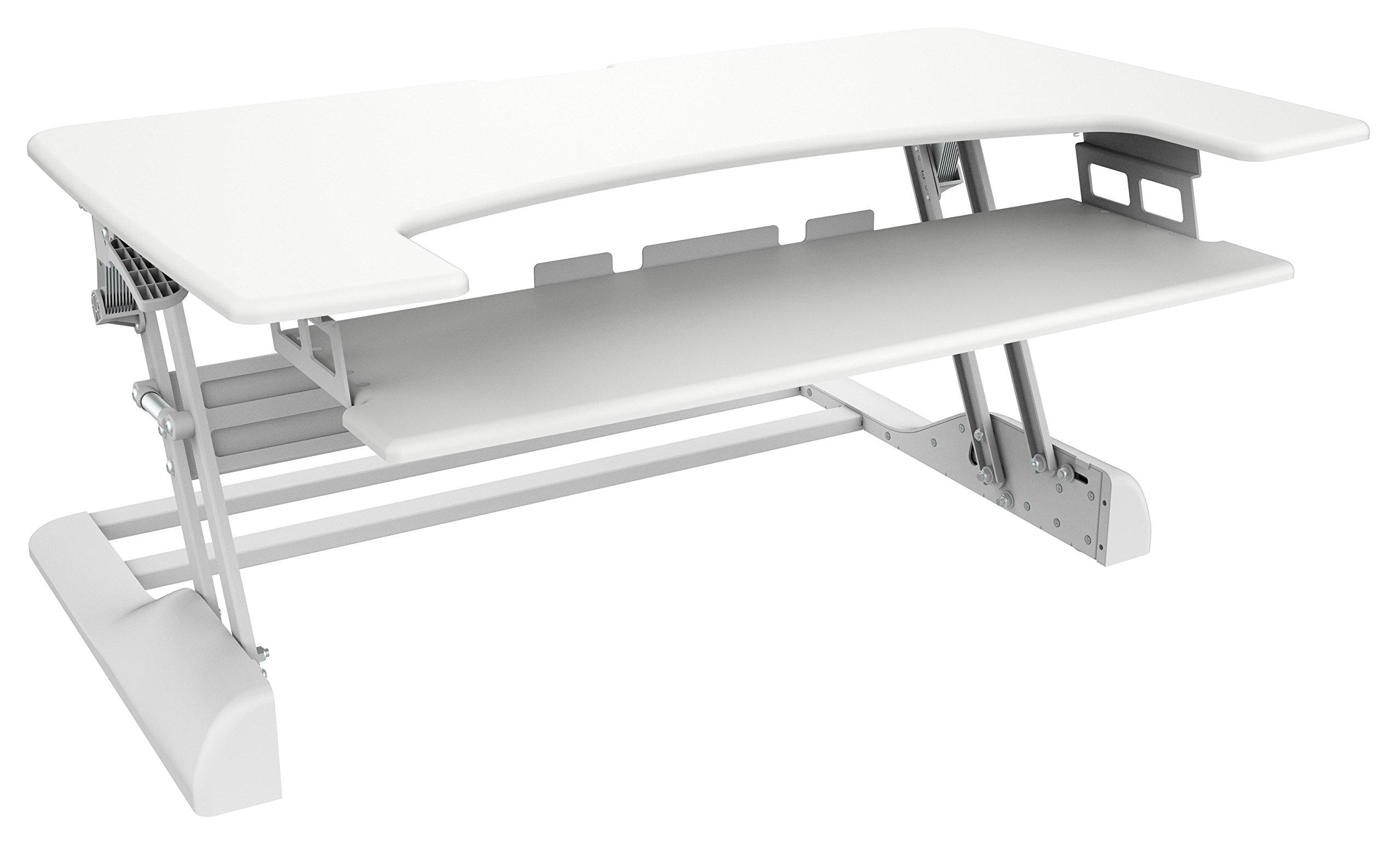 """Ergotech 42"""" White Freedom Desk (FDM-DESK-W-42)"""