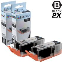 LD Compatible Ink Cartridge Replacement for Canon PGI-255XXL 8050B001 Extra High Yield (Black, 2-Pack)