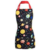 PASHOP Kids Apron, Art Aprons for Girls Boys Chef Apron for Cooking Painting Kitchen Aprons with Pockets and Adjustable Neck Strap for Baking