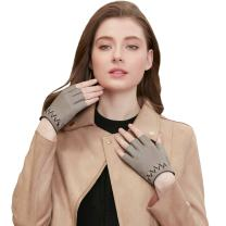 GSG Ladies Gifts Sexy Gloves Womens Fingerless Leather Gloves Driving Motorcycle Half Finger Gloves Cycling