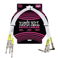 Ernie Ball Instrument Cable, White, 1.5 ft