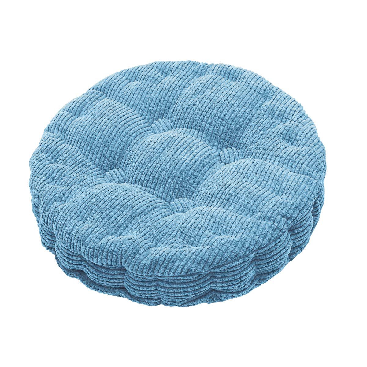 Outdoor Round Seat Cushions Epe Cotton Filled Boosted Cushion Indoor Chair Cushions For Home Office Kitchen Blue 19 7 X 19 7 X 3