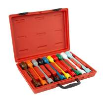 OEMTOOLS 24221 Torque Limiting Extension Set, 10 Piece, 1/2 Drive   Impact Wrench Torque Limiting Extensions Stop Turning When Required Torque Has Been Reached   Multi-Color   Comes in Carrying Case