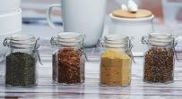 Circleware Set of 4-4oz Mini Optic Hermetic Spice Jar Home and Kitchen Utensils, 4 oz