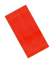 """3M 3432 Red Micro Prismatic Sheeting Reflective Tape, 1.5"""" X 10"""" (Pack of 25)"""