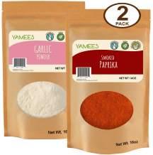 Smoked Paprika - Garlic Powder - Garlic and Smoked Paprika Powder - Bulk Spices - 2 Pack of 16 Ounce/1 Pound Each