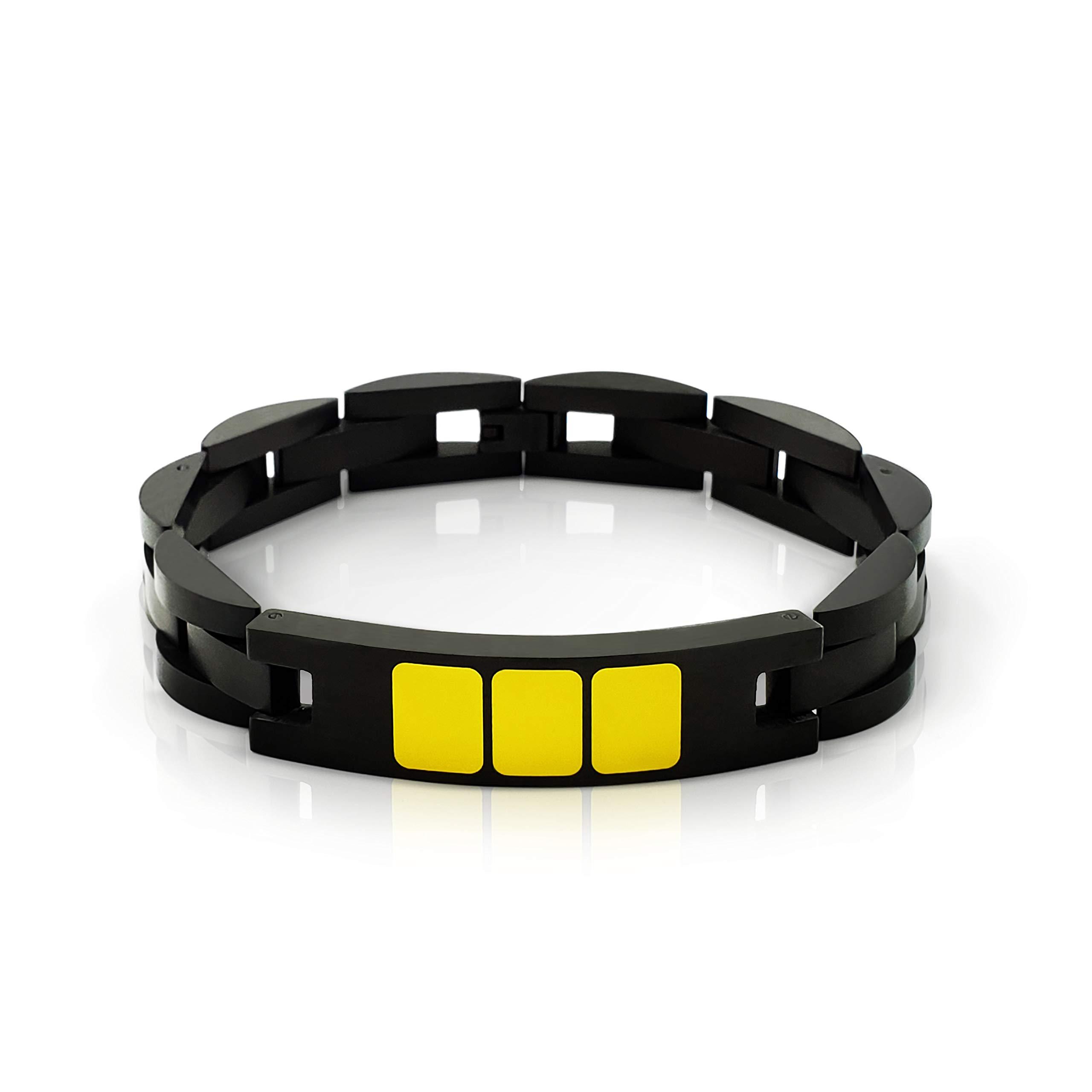 Aviation Pilot Bracelet – Perfect Pilot Gift - Black Matte Stainless Steel - Handmade Paint – Water/Dustproof - Adjustable Size Jewelry - Gift Ready Package