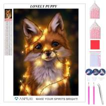ANMUXI 5D Diamond Painting Kits Full Square Drills for Adults 30X40CM Little Puppy Dog Animals Paint with Diamonds Art for Stress-Relief & Home Decor