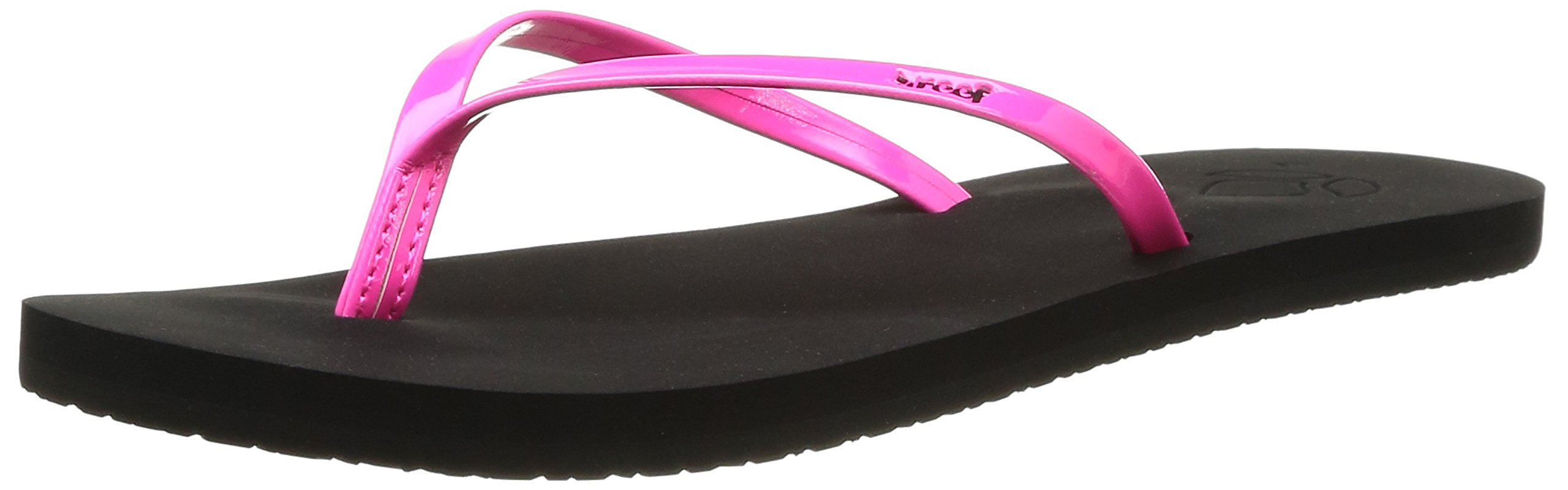 Reef Womens Sandals Bliss | Faux Patent Leather Flip Flops for Women With Soft Cushion Footbed | Waterproof