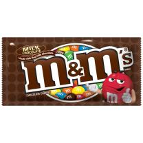 M&M'S Milk Chocolate Candy Singles Size 1.69-Ounce Pouch