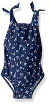 Seafolly Girls' Tie Shoulder Tank One Piece Swimsuit