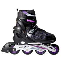 LIKU Boys Adjustable Inline Skates,Performance and Cool Inline Skate