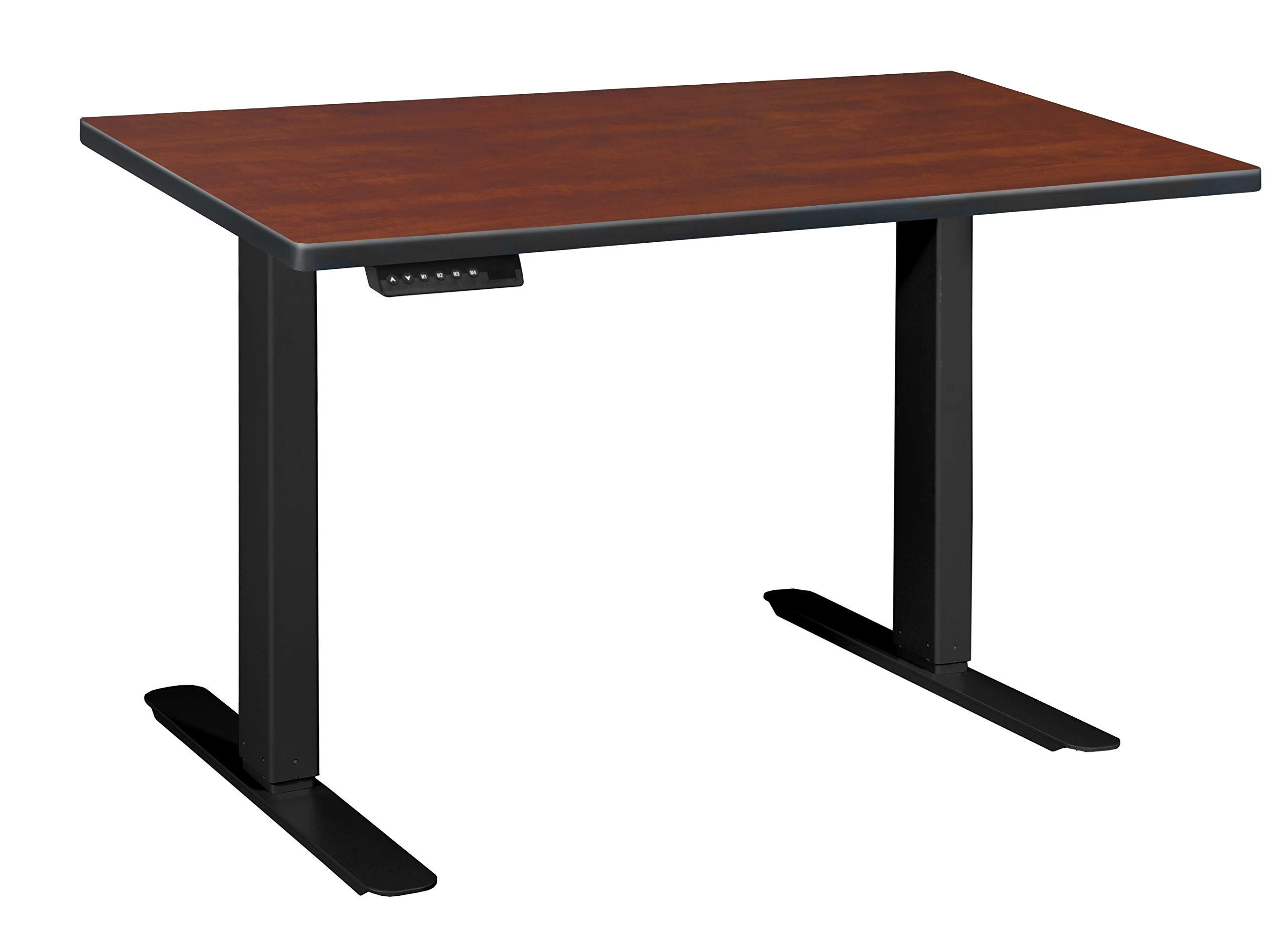 "Regency Esteem Powered One-Touch Height Adjustable Desk/Table, 42"", Cherry/Black"