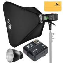 "GODOX AD600BM AD Sync 1 / 8000s 2.4G Wireless Flash Light Speedlite+GODOX X2T-F for Fuji DSLR Cameras,AD-R6,80cmX80cm /32""X32""Softbox"
