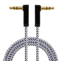 3.5mm Aux Cable, CableCreation 90 Degree 3.5mm Male to Male Auxiliary Audio Cable Compatible with Phones, Tablets, Headphones, MP3 Player, Car/Home Stereo, 6 Feet