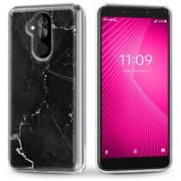 T-Mobile REVVL 2 Plus Case, Evocel [Iconic Series] Slim Profile & Lightweight with Marble Designs for T-Mobile REVVL 2 Plus/Alcatel 7 Folio, Black