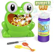 Bubble Machine, Automatic Durable Bubble Blower Over 500 Bubbles Per Minute with 1 Bottle Bubble Maker and 2 Bubble Wands for 2-17 Year Old Kids, Outdoors, Party, Wedding