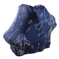 OhhGo Baby Car Seat Covers, Infant Car Seat Canopy, Stretchy Nursing Cover Infant Breastfeeding Cover Carseat Canopy Stroller Cover High Chair Cover for Baby Boy and Girl