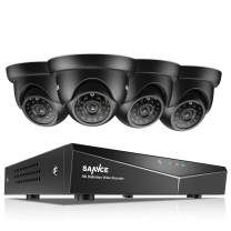 SANNCE 8CH Full 1080N DVR Security Camera System and (4) 720P 1.0MP Night Vision Surveillance Cameras, IP66 Weatherproof, P2P Technology/E-Cloud Service, QR Code Scan Remote Access No HDD
