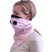 ATV TEK, Bandana Style Dust Masks w/ Suspension Straps & 3D Nose Box Universal | (Pink, Universal/X-Large)