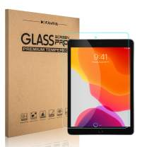 (2 Pack) iPad 7th Generation Screen Protector, DONWELL Bubble Free Anti Scratch Tempered Glass Protective Cover Compatible with iPad 10.2 inch 2019 / iPad 7th / iPad 7
