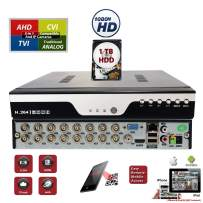 Evertech 16 Channel Surveillance H.264 Digital Video Recorder w/ 1TB Hard Drive Memory Storage