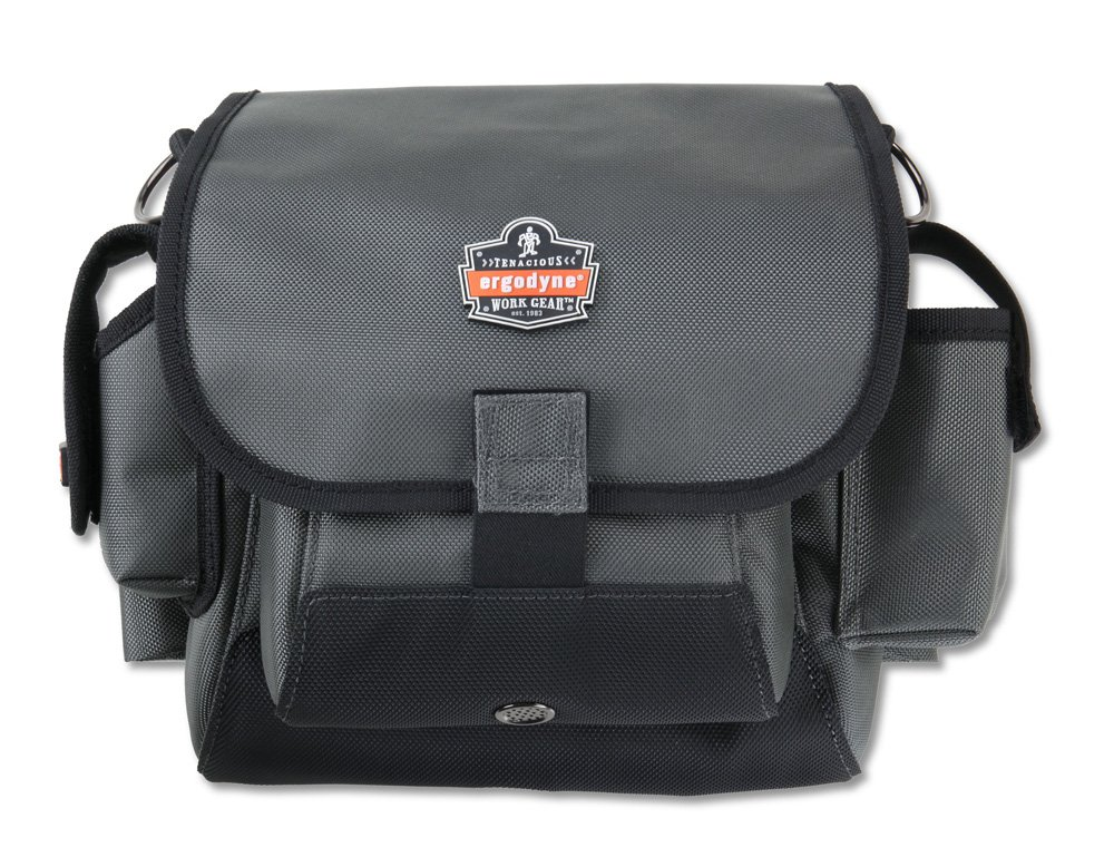 Ergodyne Arsenal 5518 19-Pocket Topped Tool Pouch, Back Belt Loop for Tool Belt Attachment