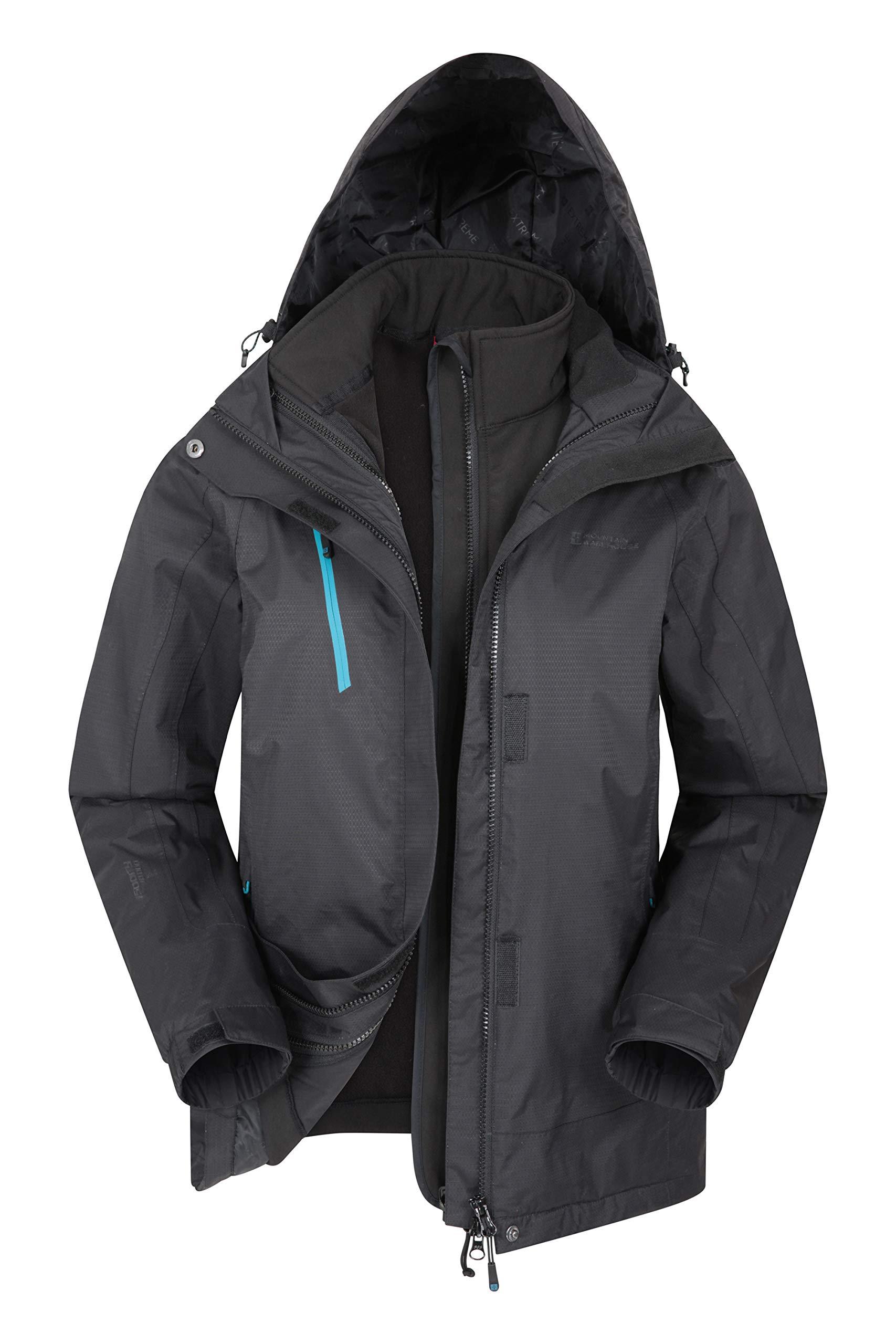 Mountain Warehouse Bracken Womens 3 in 1 Waterproof Rain Jacket