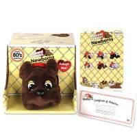 "Basic Fun Pound Puppies Newborns - Classic Stuffed Animal Plush Toy - 8"" - Dark Brown - Great Gift for Boys & Girls"