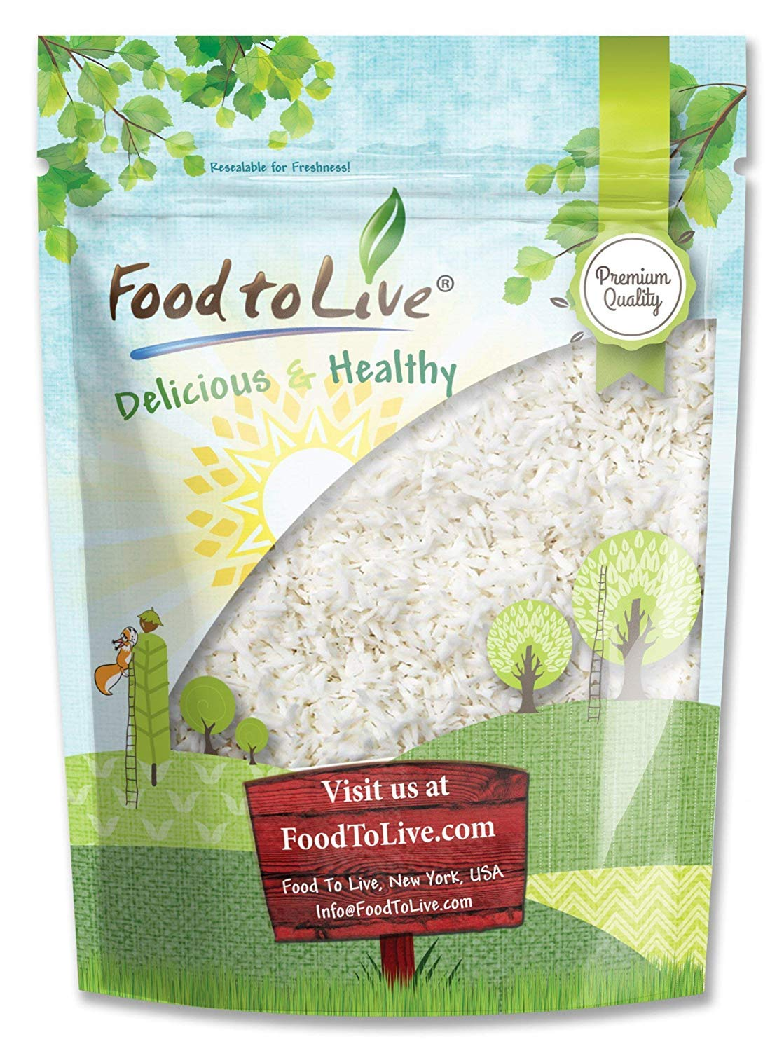 Desiccated Coconut, 2 Pounds - Shredded, Dried, Unsweetened, No SO2, Bulk