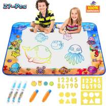 CPSYUB Aqua magic Mat,Kids Toys with Coloring Painting Water Drawing Mat&Mess Free Water Doodle Mat,Large Size 40 X 28 inches,kids toys for Age 1 2 3 4 5 6 Year Old Toys for Boys Girls Toddler