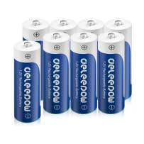Deleepow AA Rechargeable Batteries Ni-MH, 3300mAh Long Lasting, 1.2V 1200 Cycles Rechargeable AA Batteries- 8 Count for Household and Business Devices