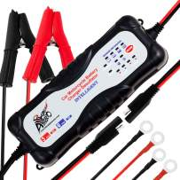 ALPHA MOTO 7 Stage 12v Automatic Motorcycle Car Truck Vehicles ATV Moto Cross Boats Trucks Cars Water Craft Golf carts Lawn Mower Smart Battery Charger Maintainer