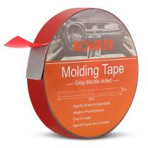 Kohree Automotive Double Sided Foam Tape,Double Sided Adhesive Tape Heavy Duty,Waterproof Mounting Tape, 1-Inch x 30-Foot,Gray Exterior Molding Tape for Auto, Car Trim,Home,Light Strip