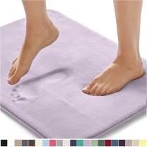 Gorilla Grip Original Thick Memory Foam Bath Rug, 42x24, Cushioned Floor Mats, Absorbent Premium's Bathroom Mat Rugs, Machine Washable, Luxury Plush Comfortable Carpet for Bath Room, Soft Purple