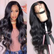 Teotuli Brazilian Body Wig 13x4 Lace Front Wigs for Black Women 100% Human Hair 150% Density Pre Plucked with Baby Hair Natural Black for Women (30 Inch, 13x4 body wave lace front wig)