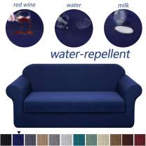 Granbest Stretch Sofa Slipcovers 3 Cushion Couch Covers Water-Repellent Pet Furniture Covers Dog Couch Protectors (Navy Blue, XLarge-2 Pieces)